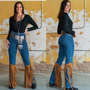 NWT L&B Studded Fringe Jeans Lucky and Blessed